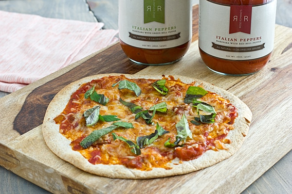 Quick Personal Pizza with Rose Romano's Italian Pepper Marinara