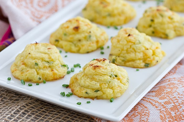 Trimmed-Down Cheddar & Chive Duchess Potatoes (made with cauliflower!)