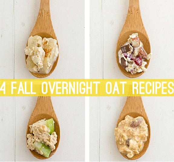 4 Fall Overnight Oat Recipes