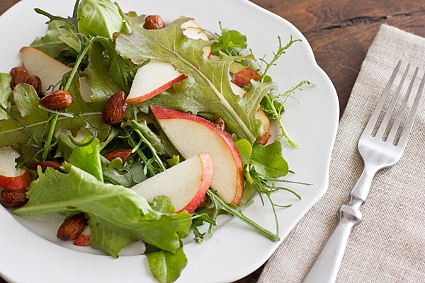 Fall Salad with Pears & Candied Almonds