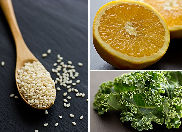 Citrus Sesame Kale Ingredients
