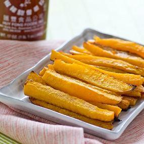 Baked Sriracha Butternut Squash Fries Recipe