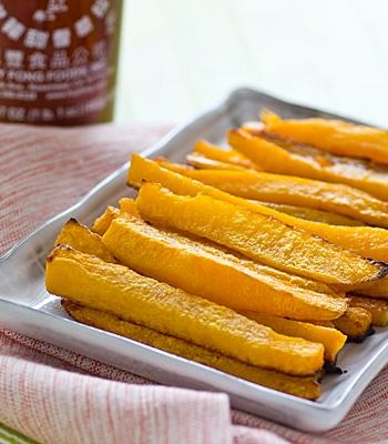 Baked Sriracha Butternut Squash Fries Recipe