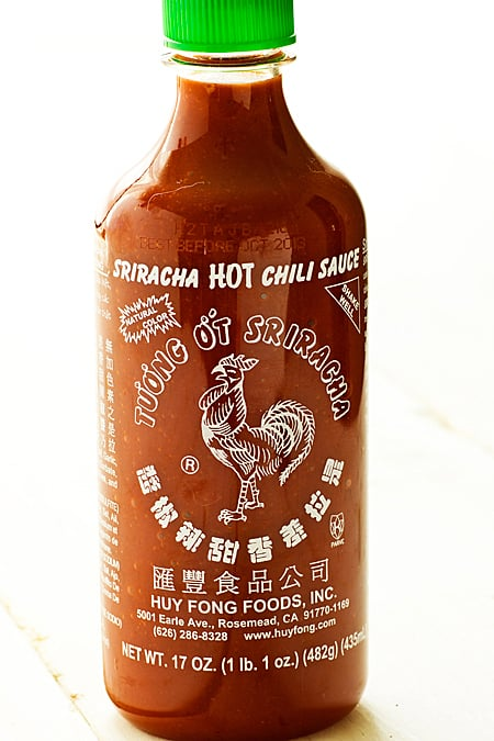 Bottle of Sriracha