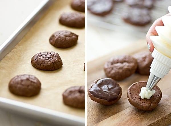 Grasshopper Brownie Cookies