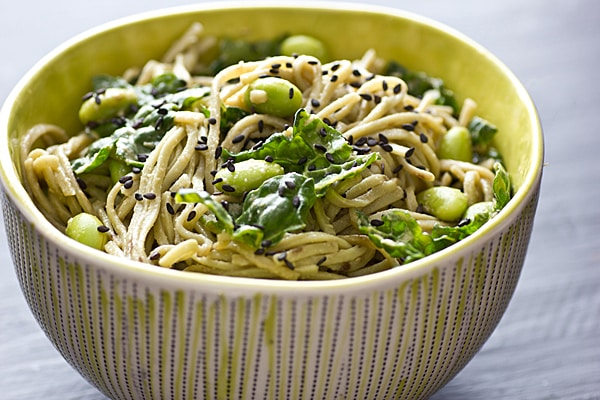 Sesame Noodles with Edamame & Kale