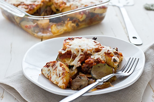 Veggie-Loaded Polenta Bake