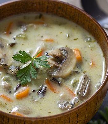Creamy Wild Rice & Mushroom Soup Recipe
