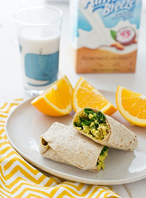 Freezer-Friendly Greens & Tofu Scramble Wraps