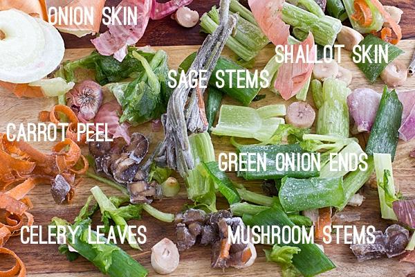 Frozen Scraps for Vegetable Broth