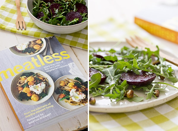 Martha Stewart Living Meatless Roasted Beets with Edamame & Arugula