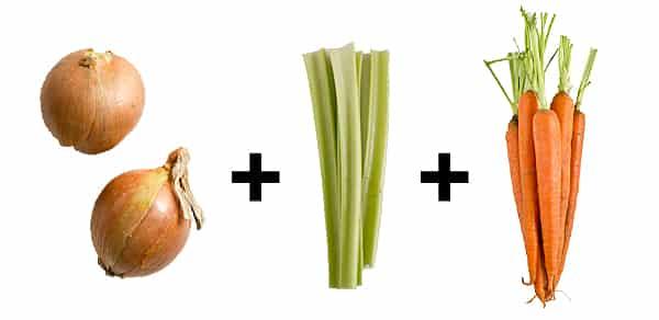 Onions + Celery + Carrots