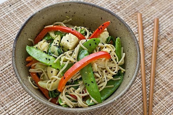 Soba Noodles with Coconut Curry Vinaigrette
