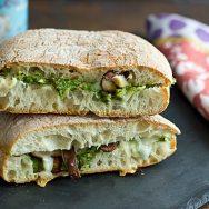 Shiitake Panini with Roasted Asparagus Pesto Recipe