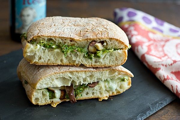 Shiitake Panini with Roasted Asparagus Pesto Recipe