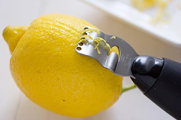 Zesting Lemon