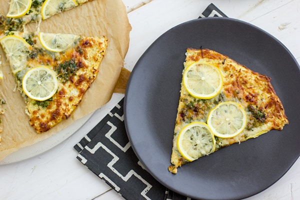 Lemon Gremolata Pizza with Cauliflower Crust