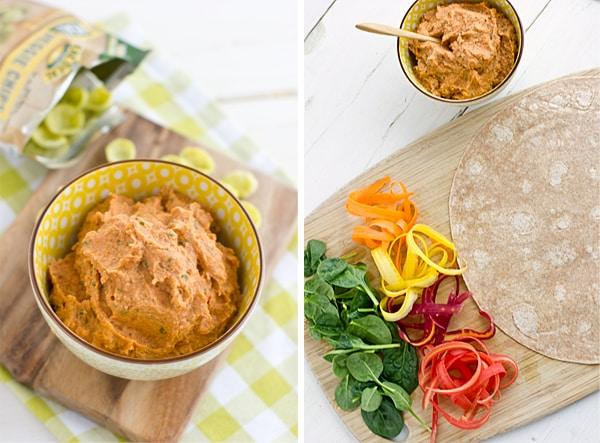 Slow-Roasted Tomato & Basil Hummus