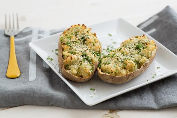 Herb and Hemp Stuffed Potatoes