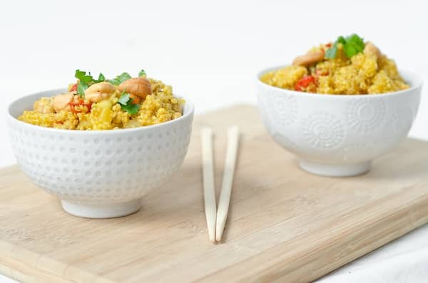 Pineapple Cashew Curry Bowls