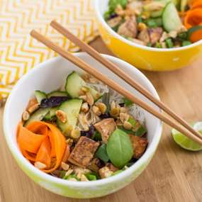 Thai Tofu and Noodle Salad Recipe
