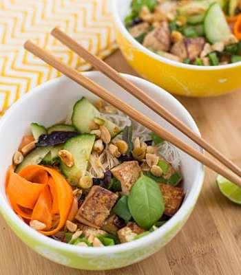 Thai Tofu and Noodle Salad Recipe