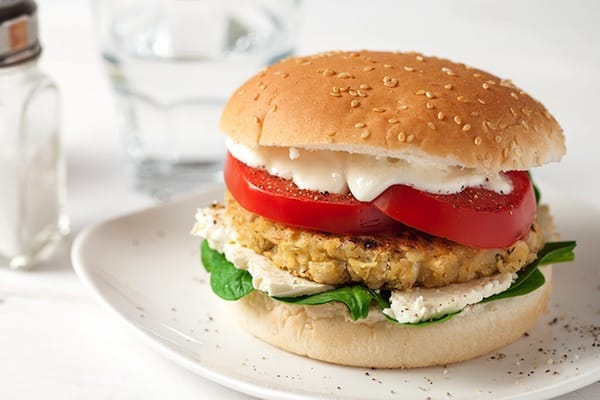 Greek Herbed White Bean Burgers