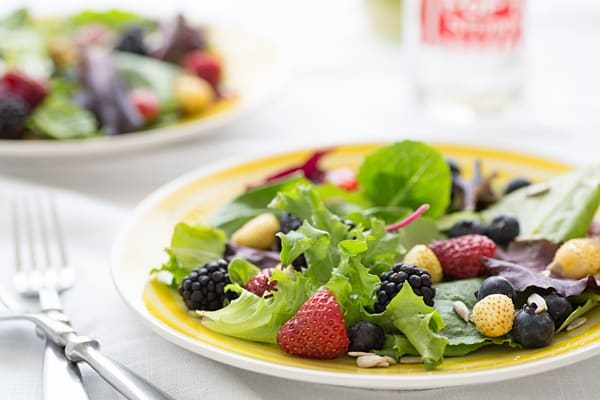 Spring Berry Salad with Lemon Verbena Vinaigrette