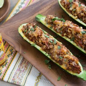 Taco Stuffed Zucchini Recipe