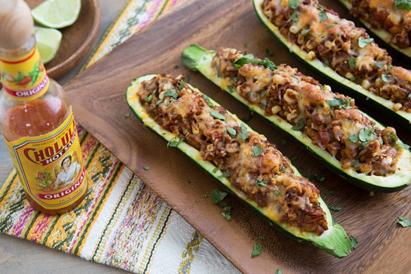 Taco Stuffed Zucchini Recipe