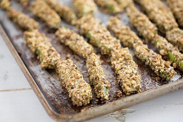 Greek Dukkah Encrusted Zucchini Fries