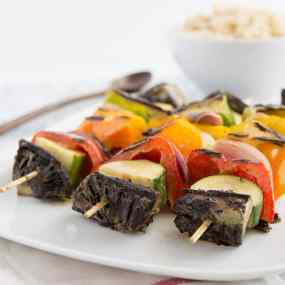 Green Curry Veggie Kabobs Recipe