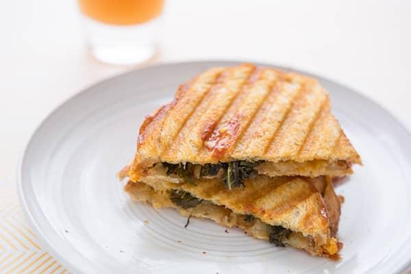 Kale, Grilled Garlic & Cheddar Panini