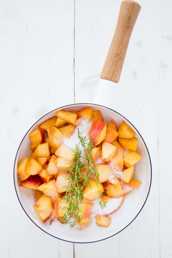 Peach Thyme Syrup Ingredients