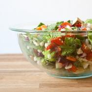 Chopped Salad with Mango Dressing