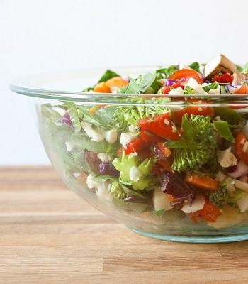 Chopped Salad with Mango Dressing