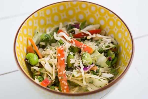 Crunchy Asian Chopped Salad with Peanut Dressing