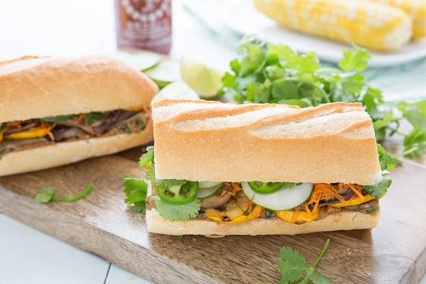 Grilled Veggie Banh Mi Sandwiches Recipe