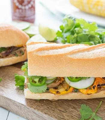 Grilled Veggie Banh Mi Sandwiches Recipe