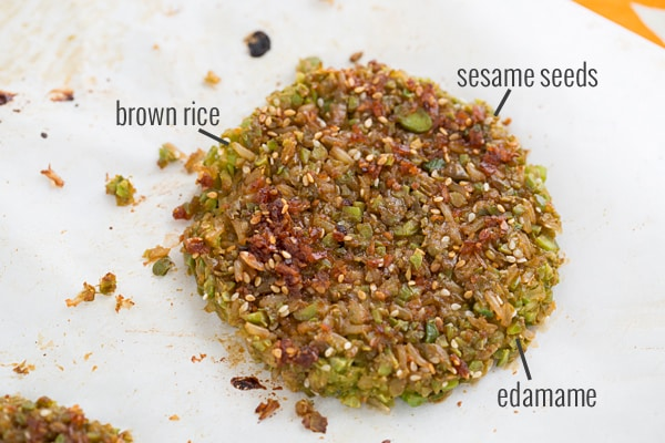 Teriyaki-Glazed Brown Rice and Edamame Burger