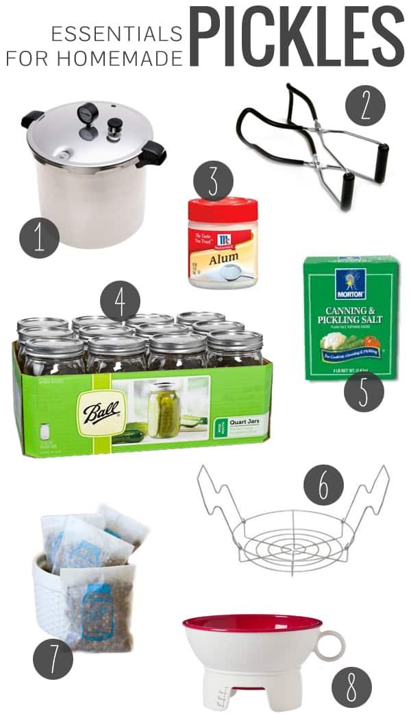 Essentials for Homemade Pickles