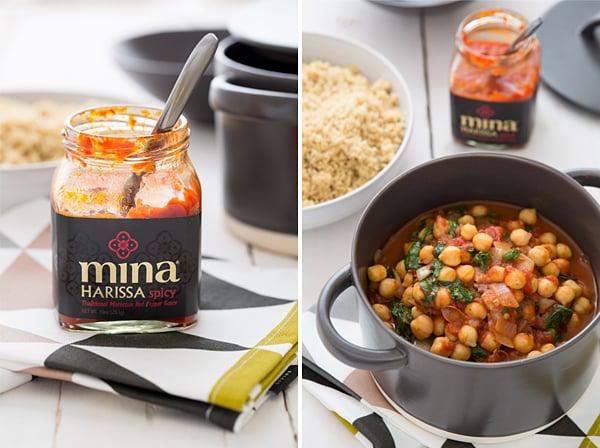Spicy Chickpea & Spinach Stew with Harissa