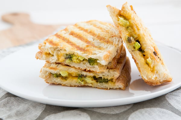 Roasted Broccoli Grilled Cheese