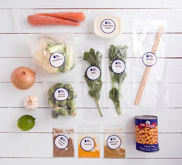 Roasted Vegetable Kebab Ingredients