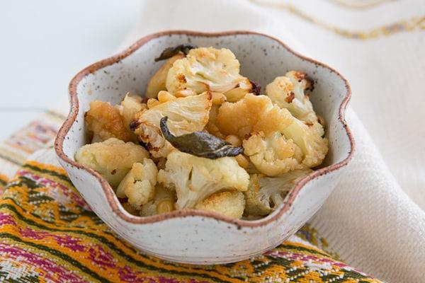 Honey-Roasted Cauliflower with Pine Nuts and Crispy Sage