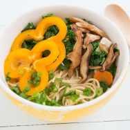 Tofu, Kale and Shiitake Mushroom Ramen Noodle Soup