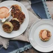 Crispy Quinoa Cakes with Roasted Red Pepper Cashew Cream Recipe