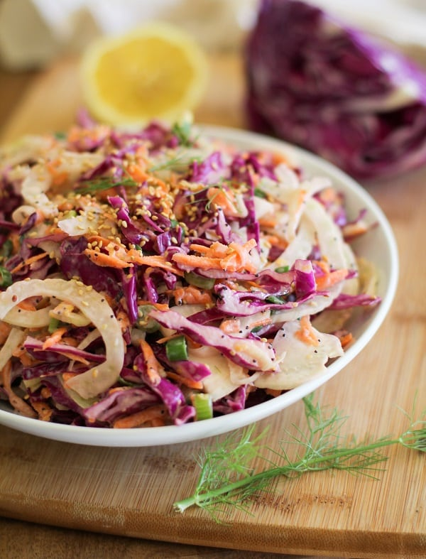 Fennel and Cabbage Coleslaw