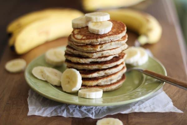 Gluten free vegan banana silver dollar pancakes gluten free vegan pancakes ccuart Image collections