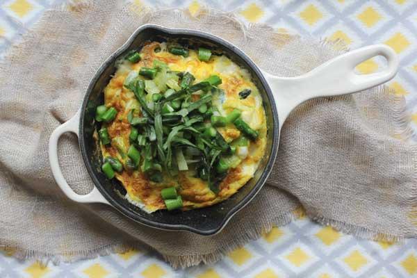 Asparagus & Leek Frittata from Tasty Yummies